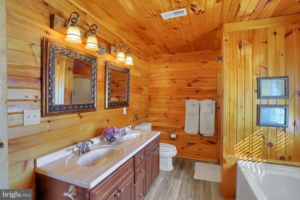 Log Cabin Home, Real Estate Staging by Sherri Blum