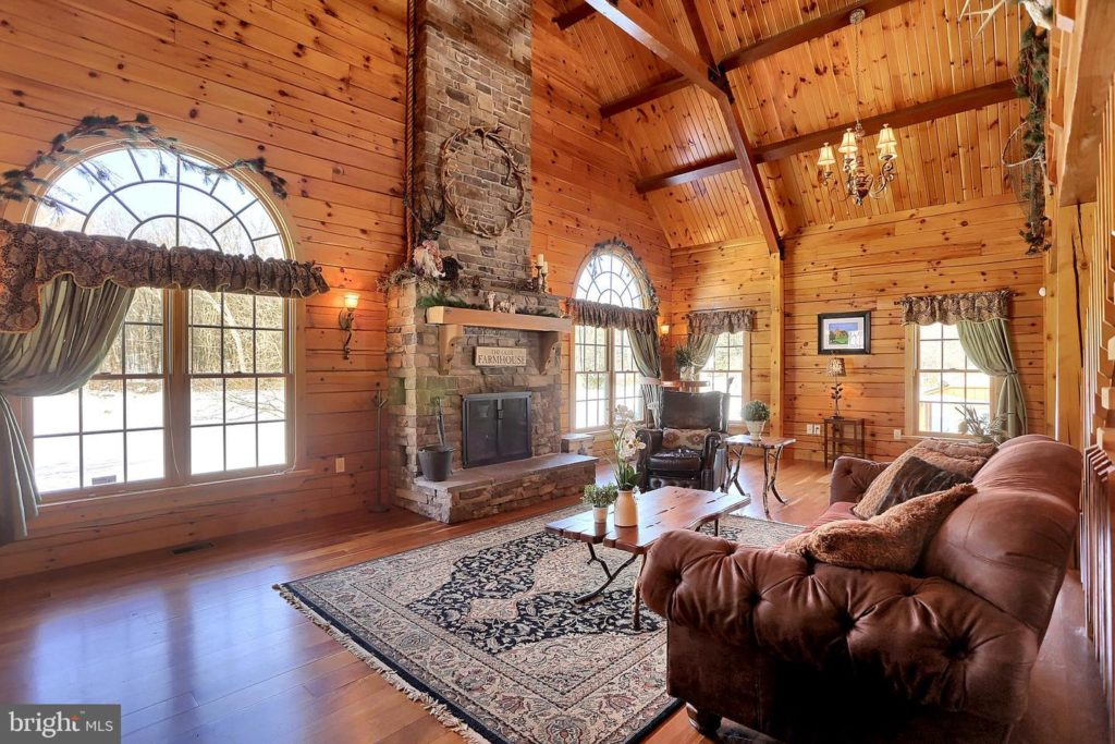Log Cabin Home by Sherri Blum Interior Designer in PA