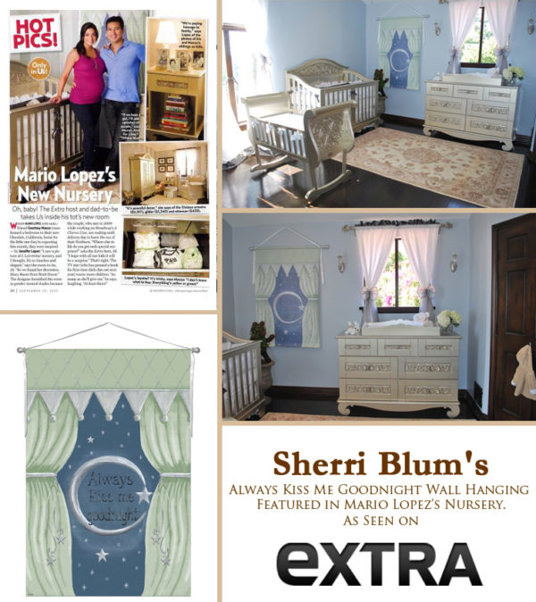 Sherri Blum Art in Celebrity Mario Lopez Nursery