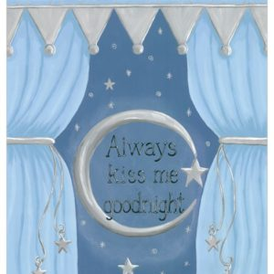 Always Kiss Me Goodnight nursery wall art decor by Sherri Blum