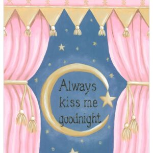 Baby Wall Art, Always Kiss Me Goodnight by Sherri Blum, Celebrity Designer