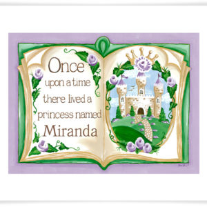 Once Upon a Time Canvas Print Princess Wall Art Decor