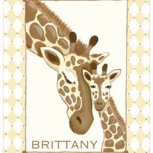 Giraffe nursery art, Cake Boss Buddy Valastro Nursery by Sherri Blum. Gender neutral.
