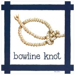 Nautical Wall Art, Bowline Knot by Sherri Blum