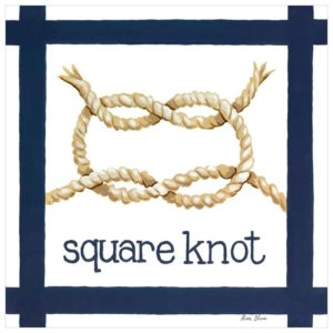 Nautical Decor, Square Knot Coastal Beach Wall Art
