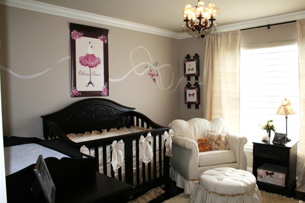 Girl's Nursery in French Theme, Parisian Style Design by Sherri Blum