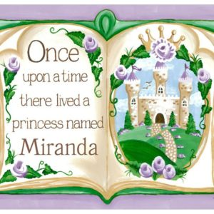 Princess Decor, Once Upon a Time Storybook Art in Lavender by Sherri Blum
