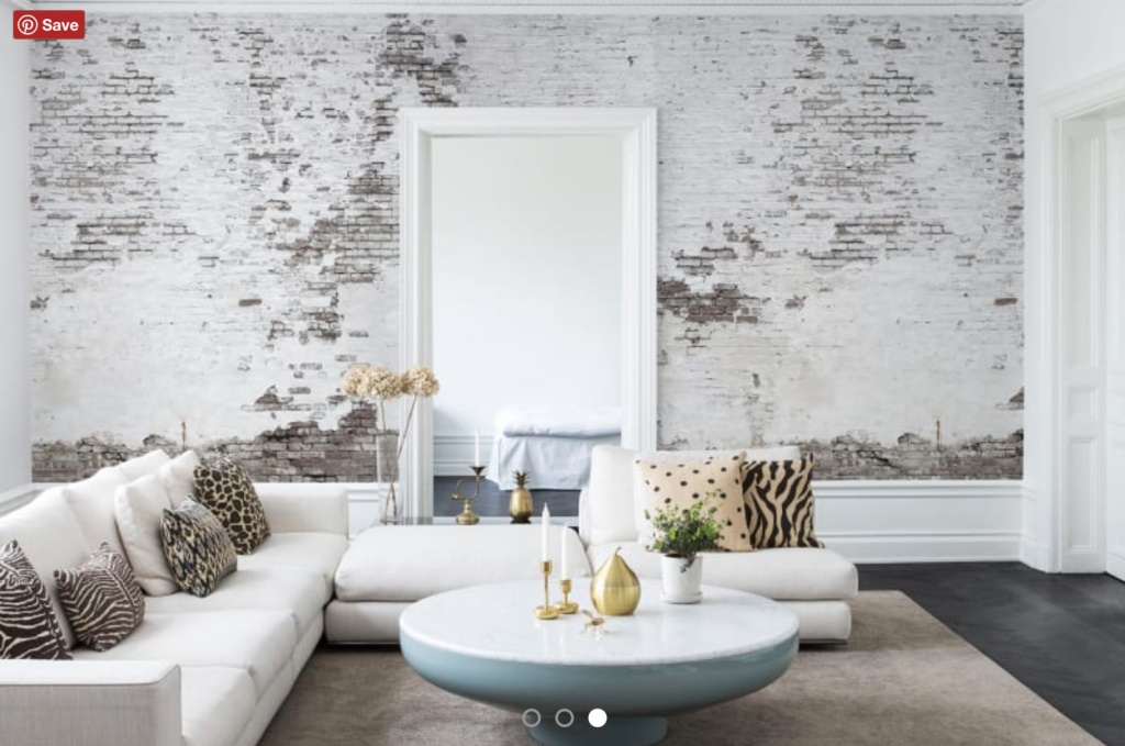 Faux White Brick Wall