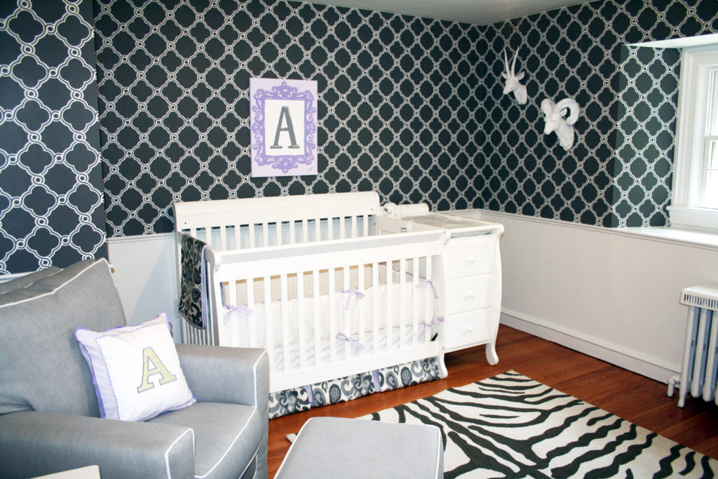 Celebrity Nursery, Rock Star Baby Room Gray