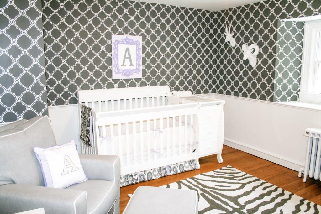 Celebrity Nursery, Rock Star Baby Room Gray