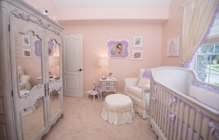 Princess nursery by celebrity interior designer Sherri Blum.