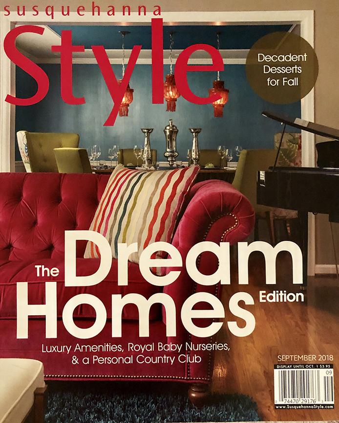 Susquehanna Style Cover, Sherri Blum Interior Designer Harrisburg, Philadelphia
