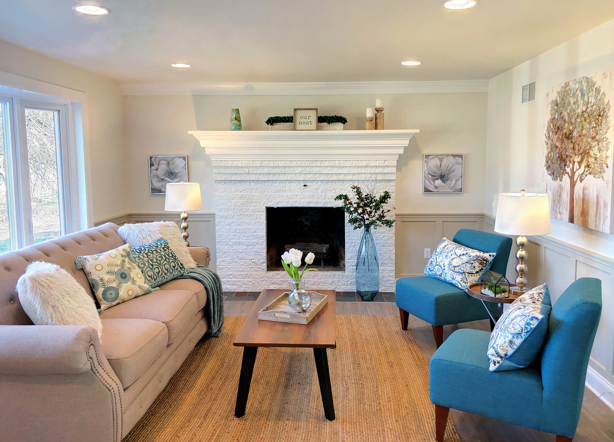Home Staging by Interior Designer Sherri Blum in Harrisburg, Carlisle PA