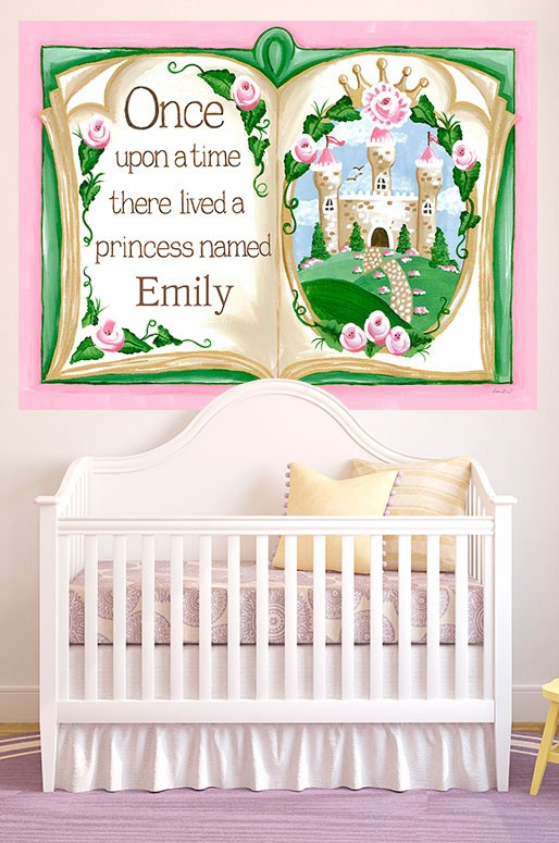 Once Upon a Time Storybook Art, Princess Decor