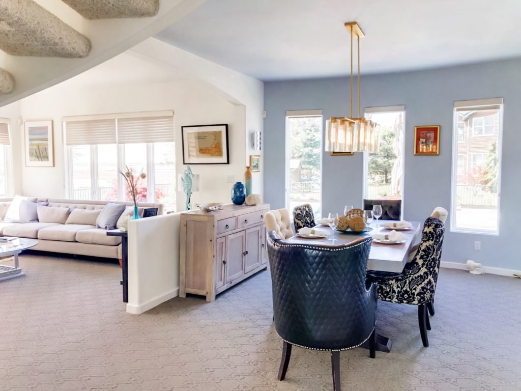 Beach home design project and decor.