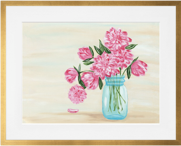Peonies Sherri Blum, Artist Wall Art Canvas and Prints