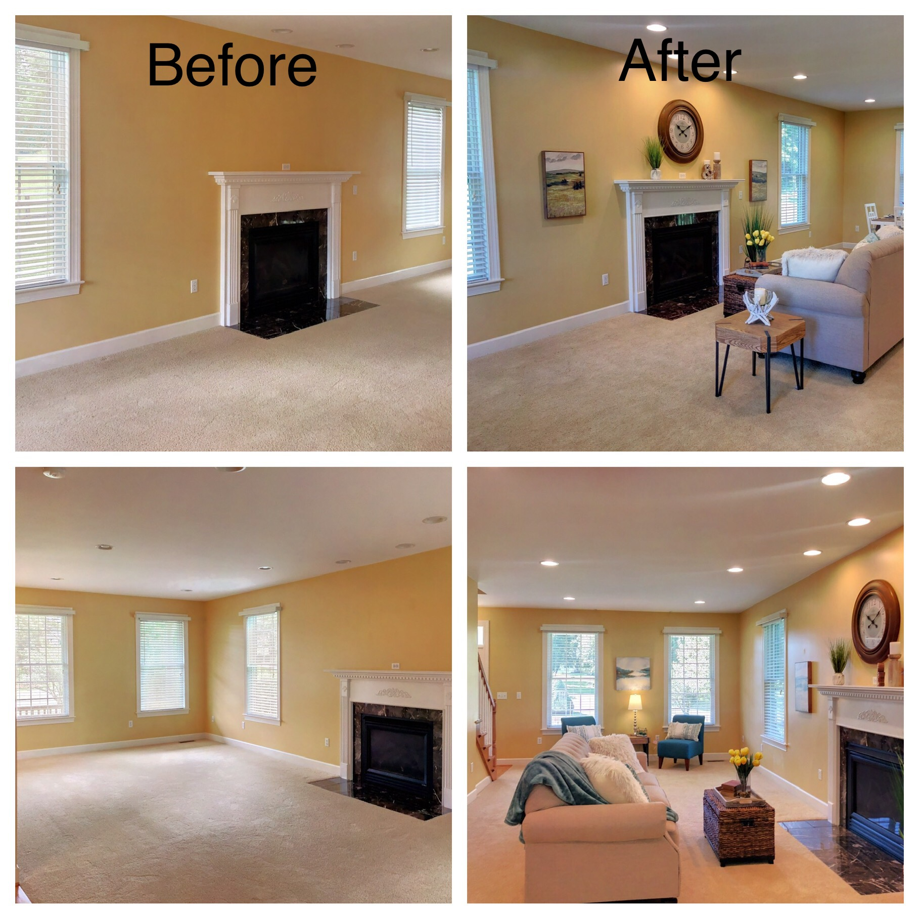 Before and After Staging by Sherri Blum