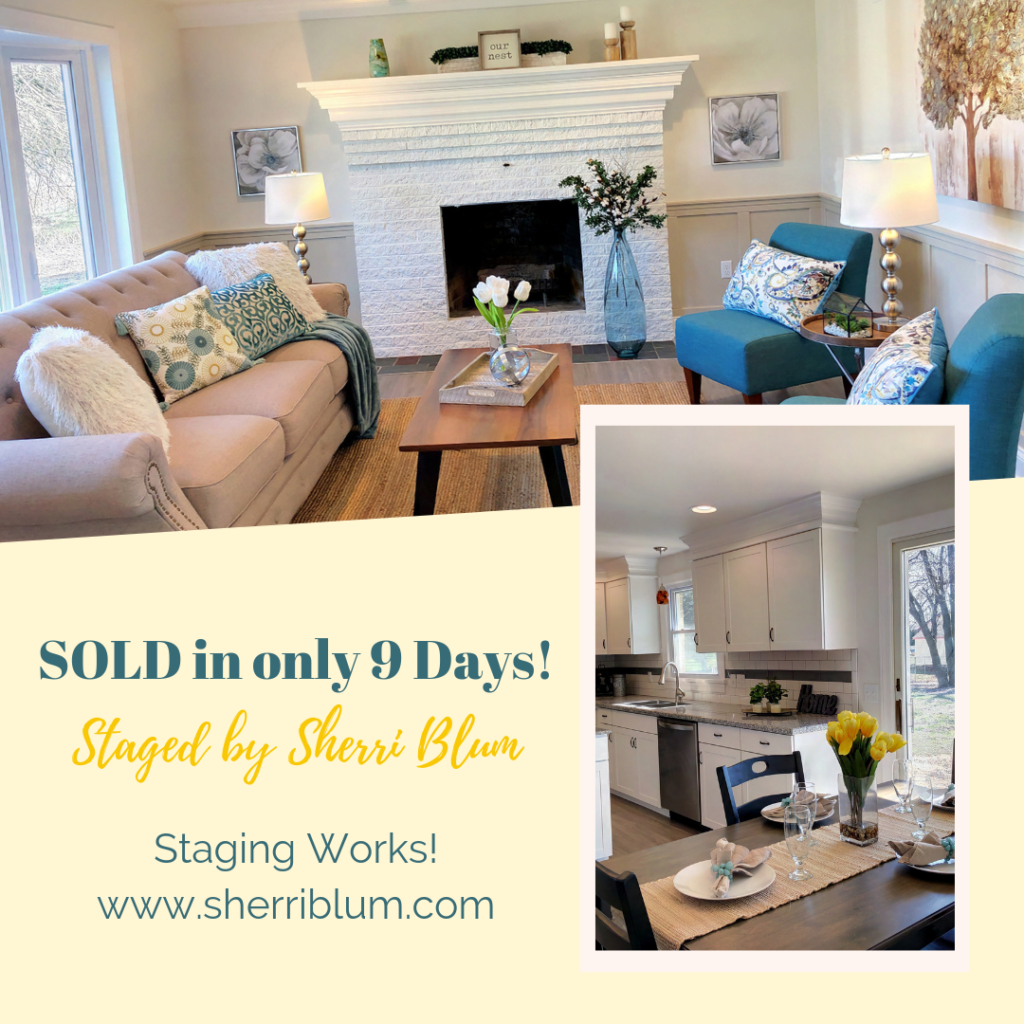 Sold in 9 days Staged by Sherri Blum, Vacant Home