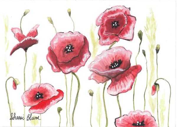 Dance of the Poppies Notecards, Greeting Cards, Invitations