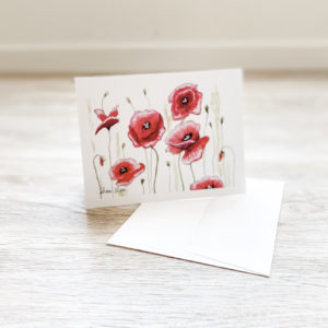 Dance of the Poppies Greeting Card Notecard Invitations by Sherri Blum