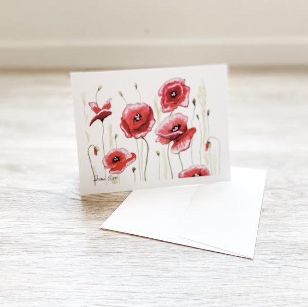 Dance of the Poppies Greeting Card Notecard Invitations by Sherri Blum