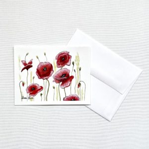 Red Poppies Notecards Greeting Cards Blank
