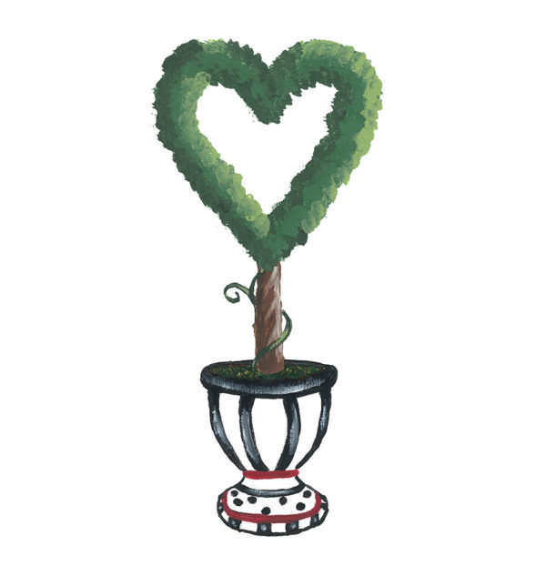 Heart Topiary by Sherri Blum