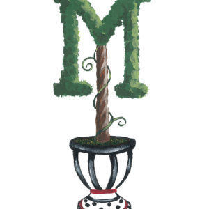 Topiary Monogram Letter Personalized Art by Sherri Blum
