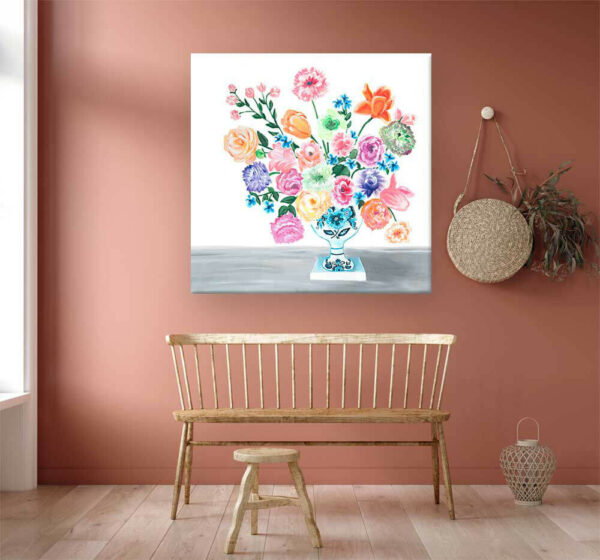 Sweet Bouquet of Florals Wall Art Canvas by Sherri Blum